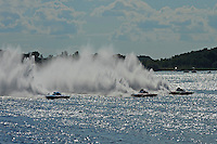 "Start: Final: (L to R): Brandon Kennedy, GP-25 ""Miss KOMA Unwind"", Ghislain Marcoux, GP-101 ""Groupe ABS"" and Patrick Haworth, GP-57 ""H2Racing"" (Grand Prix Hydroplane(s)"