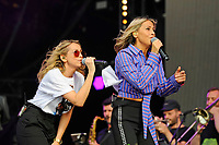 LONDON, ENGLAND - SEPTEMBER 9: Natalie Appleton and Nicole Appleton of 'All Saints' performing at BBC Radio 2 Live in Hyde Park, on September 9, 2018 in London, England.<br /> CAP/MAR<br /> &copy;MAR/Capital Pictures