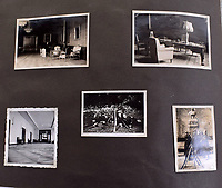 BNPS.co.uk (01202 558833)<br /> Pic: C&amp;TAuctions/BNPS<br /> <br /> Candid snaps around the Hitler's new Reich Chancellery, including his desk.<br /> <br /> A photo album containing never-before-seen candid snaps of Adolf Hitler that was found in Eva Braun's bedroom drawer in the Fuhrer's Bunker has sold for more than &pound;41,000.<br /> <br /> The remarkable images show the Nazi dictator and his henchmen in rare lighter moments of the Second World War.<br /> <br /> The album, which was unearthed after 72 years, sparked fervent interest and attracted a phone bid of more than double its estimate of &pound;18,000.<br /> <br /> The hammer price was &pound;34,000, with extra fees pushing the final total to &pound;41,140.<br /> <br /> There is one snap of a grinning Hitler in a 'Chaplinesque' pose and offering a playful salute to the person taking the photo outside his Berghof headquarters. Two more show him smiling in front of a crowd of children saluting him.