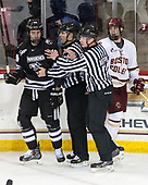Conor MacPhee (PC - 29), Bob Bernard, Dmitry Antipin, Casey Fitzgerald (BC - 5) - The Boston College Eagles defeated the visiting Providence College Friars 3-1 on Friday, October 28, 2016, at Kelley Rink in Conte Forum in Chestnut Hill, Massachusetts.The Boston College Eagles defeated the visiting Providence College Friars 3-1 on Friday, October 28, 2016, at Kelley Rink in Conte Forum in Chestnut Hill, Massachusetts.