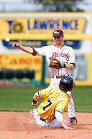 Kevin Medrano (13) of the Missouri State Bears during a game vs. the Western Illinois Leathernecks at Hammons Field in Springfield, Missouri;  March 20, 2011.  Photo By David Welker/Four Seam Images