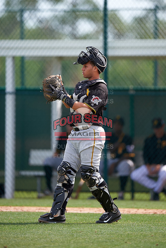 Pittsburgh Pirates Yoel Gonzalez (92) during a minor league Spring Training intrasquad game on April 3, 2016 at Pirate City in Bradenton, Florida.  (Mike Janes/Four Seam Images)
