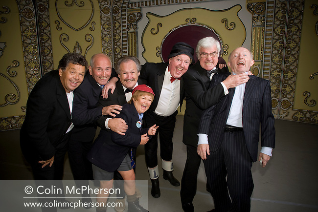 Cannon and Ball, The Krankies, Jimmy Cricket, Frank Carson and Paul Daniels pictured on stage at the Winter Gardens in Blackpool. The veteran comedians and entertainers were promoting their forthcoming show entitled the Best of British Variety Tour 2008, which runs at venues across England and Wales during August and September.