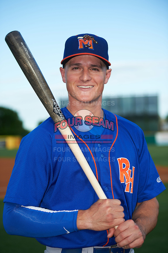 Midland RockHounds third baseman Matt Chapman (7) poses for a photo before a game against the San Antonio Missions on April 21, 2016 at Nelson W. Wolff Municipal Stadium in San Antonio, Texas.  Midland defeated San Antonio 9-2.  (Mike Janes/Four Seam Images)
