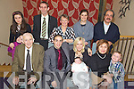 Congratulations - Vasco Pita & Linda O'Sullivan from Ardfert, seated centre pictured having a wonderful time with family at the Christening celebrations for their son Conor held in The Ballyroe Heights Hotel on Saturday. Seated l/r Godfather Tom O'Sullivan, Vasco, Conor & Linda and Godmother Ana Pita. Standing l/r Daisy & Paige Moore, Stephen & Mary O'Sullivan, Ana Moore, Vasco Pita Snr and Jamie O'Sullivan.