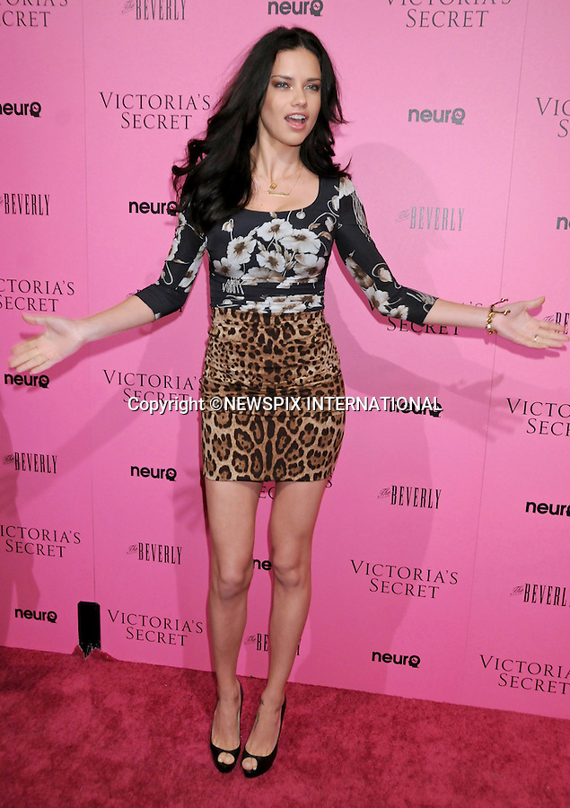 "ADRIANA LIMA.at Victoria's Secret Supermodels release of the 2011 What Is Sexy? List & kick off to the Bombshell Summer Tour at The Beverly, Los Angeles, California_12 May 2011.Mandatory Photo Credit: ©Crosby/Newspix International..**ALL FEES PAYABLE TO: ""NEWSPIX INTERNATIONAL""**..PHOTO CREDIT MANDATORY!!: NEWSPIX INTERNATIONAL(Failure to credit will incur a surcharge of 100% of reproduction fees)..IMMEDIATE CONFIRMATION OF USAGE REQUIRED:.Newspix International, 31 Chinnery Hill, Bishop's Stortford, ENGLAND CM23 3PS.Tel:+441279 324672  ; Fax: +441279656877.Mobile:  0777568 1153.e-mail: info@newspixinternational.co.uk"
