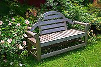 Bench in garden, Prince Edward Island, Canada