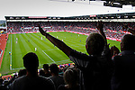 Stoke City 1 West Bromwich Albion 1, 24/09/2016. Bet365 Stadium, Premier League. West Brom fans cheering their team on. Photo by Paul Thompson.