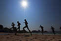 Ambiance shot, <br /> AUGUST 18, 2016 - Triathlon : <br /> Men's Final - the Brownlee brothers (GBR) exit the water after the swim at Fort Copacabana during the Rio 2016 Olympic Games in Rio de Janeiro, Brazil. <br /> (Photo by Sho Tamura/AFLO SPORT)