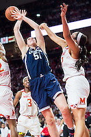 College Park, MD - DEC 29, 2016: Connecticut Huskies center Natalie Butler (51) looses the ball going up to the rim during the game between No. 1 UConn and the No. 3 Terrapins at the XFINITY Center in College Park, MD. UConn defeated Maryland 87-81. (Photo by Phil Peters/Media Images International)