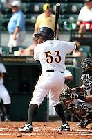 Bradenton Marauders Evan Chambers #53 during a game against the Jupiter Hammerheads at McKechnie Field on June 22, 2011 in Bradenton, Florida.  Bradenton defeated Jupiter 5-4.  (Mike Janes/Four Seam Images)