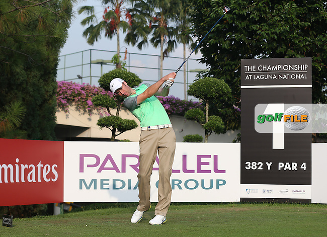 Ross Fisher (ENG) from the 1st during the Pro-Am ahead of the The Championship 2014 from the Laguna National Golf & Country Club, Tampines, Singapore. Picture:  David Lloyd / www.golffile.ie
