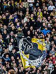 Solna 2013-09-30 Fotboll Allsvenskan AIK - &Ouml;sters IF :  <br /> AIK supportrar<br /> (Foto: Kenta J&ouml;nsson) Nyckelord:  supporter fans publik supporters