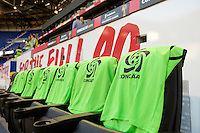 Harrison, NJ - Wednesday Aug. 03, 2016: CONCACAF bibs during a CONCACAF Champions League match between the New York Red Bulls and Antigua at Red Bull Arena.