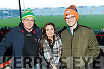 Attending the Kerry v Limerick McGrath Cup Football Final on Sunday last in Limerick GAA Grounds were l-r: Donal Murphy (Rathmore), Catherine Cronin (Limerick) and Stephen Murphy (Rathmore).