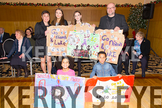 Martina Diaro, Aoife Wallace, Ellen Wallace, John Wallace, Caoimhe Diaro, Fionn Diaro at the St. Pats Blennerville Strictly come Dancing fundraiser at Ballyroe Heights Hotel on Friday