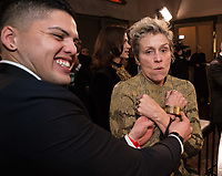 Oscar&reg;-winner, Frances McDormand, at the Governors Ball following the live ABC Telecast of The 90th Oscars&reg; at the Dolby&reg; Theatre in Hollywood, CA on Sunday, March 4, 2018.<br /> *Editorial Use Only*<br /> CAP/PLF/AMPAS<br /> Supplied by Capital Pictures