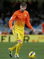 FC Barcelona's Gerard Pique during La Liga match.January 19,2013. (ALTERPHOTOS/Acero) /NortePhoto
