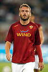 Calcio, Serie A: Roma-Catania. Roma, stadio Olimpico, 26 agosto 2012..AS Roma midfielder Daniele De Rossi warms up prior to the start of the Italian Serie A football match between AS Roma and Catania, at Rome, Olympic stadium, 26 August 2012. .UPDATE IMAGES PRESS/Isabella Bonotto
