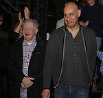 Harvey Evans and Fred Johanson attend the Actors' Equity Opening Night Gypsy Robe Ceremony for 'Sunset Boulevard'  honoring Matt Wall at the Palace Theatre Theatre on February 9, 2017 in New York City.