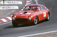 August 26th 1984, Laguna Seca Raceway, CA. 1953 Ferrari 375 MM. This is the largest concentration of Ferrari, more than 3.000 models and proud owners show their cars and race with them.