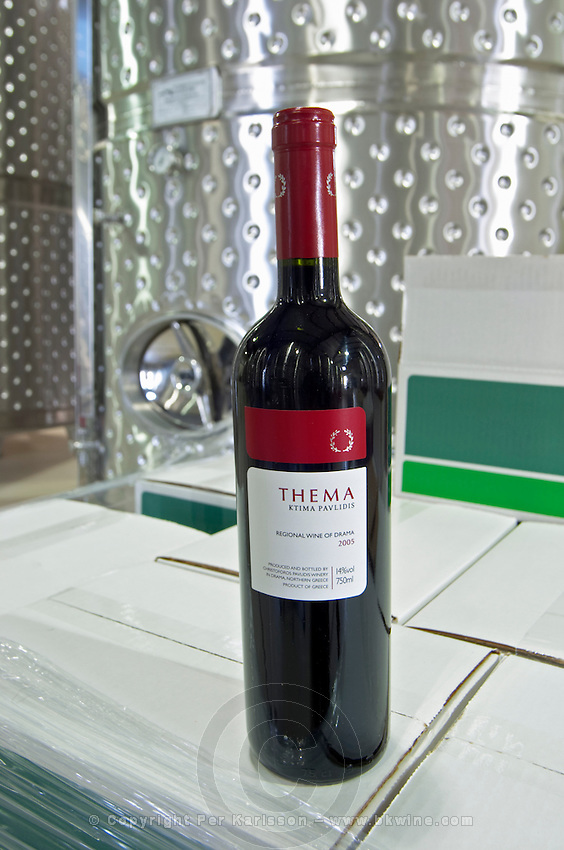 Thema. Ktima Pavlidis Winery, Drama, Macedonia, Greece