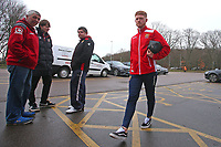 Dale Gorman of Stevenage arrives at the ground during Stevenage vs Crewe Alexandra, Sky Bet EFL League 2 Football at the Lamex Stadium on 10th March 2018
