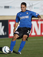 Wes Hart in action during an MLS match between the San Jose Earthquakes and MetroStars on June 13, 2004 in San Jose, California.  San Jose defeated the MetroStars 3-1.
