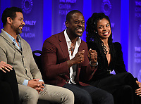 """HOLLYWOOD, CA - MARCH 24: Jon Huertas, Sterling K. Brown, and Susan Kelechi Watson attend PaleyFest 2019 for 20th Century Fox Television's """"This is Us"""" at the Dolby Theatre on March 24, 2019 in Hollywood, California. (Photo by Frank Micelotta/20th Century Fox Television/PictureGroup)"""