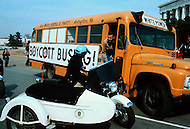 February 10, 1972, Arlington, Virginia. Matt Koehl, the comander of the White National Socialist Party is campaigning against the busing.