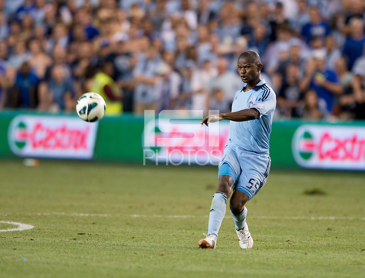 Julio Cesar. Sporting Kansas City won the Lamar Hunt U.S. Open Cup on penalty kicks after tying the Seattle Sounders in overtime at Livestrong Sporting Park in Kansas City, Kansas.