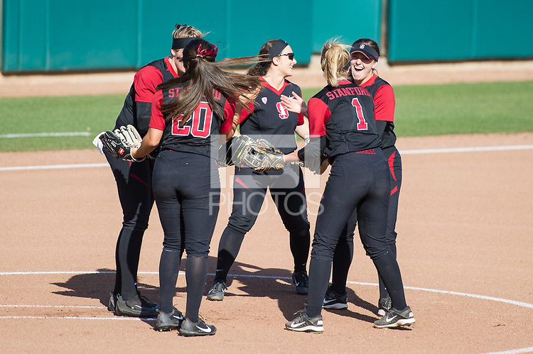 Stanford, CA, April 14, 2017: Stanford Women's Softball vs. Arizona State University at Smith Family Stadium. Stanford lost to ASU 9-1.