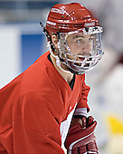Adam Burish - The University of Wisconsin Badgers practiced on Friday, April 7, 2006, at the Bradley Center in Milwaukee, Wisconsin.  The following evening the Badgers defeated Boston College 2-1 to win the Title.