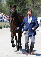 LEXINGTON, KY - April 26, 2017. #41 Delux Z and Jurt Martin from the USA at the Rolex Three Day Event First Horse Inspection at the Kentucky Horse Park.  Lexington, Kentucky. (Photo by Candice Chavez/Eclipse Sportswire/Getty Images)