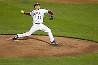 Grant Gordon (35) of the Missouri State Bears during a game vs. the Western Illinois Leathernecks at Hammons Field in Springfield, Missouri;  March 18, 2011.  Photo By David Welker/Four Seam Images