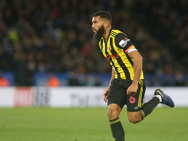 Watford's Adrian Mariappa <br /> <br /> Photographer Stephen White/CameraSport<br /> <br /> The Premier League - Leicester City v Watford - Saturday 1st December 2018 - King Power Stadium - Leicester<br /> <br /> World Copyright © 2018 CameraSport. All rights reserved. 43 Linden Ave. Countesthorpe. Leicester. England. LE8 5PG - Tel: +44 (0) 116 277 4147 - admin@camerasport.com - www.camerasport.com
