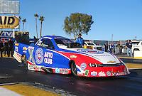Feb 4, 2016; Chandler, AZ, USA; NHRA funny car driver Robert Hight during pre season testing at Wild Horse Pass Motorsports Park. Mandatory Credit: Mark J. Rebilas-USA TODAY Sports