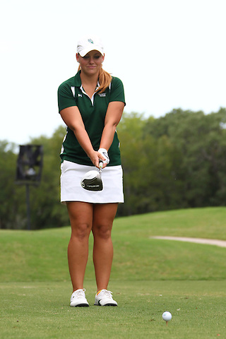 Denton, TX - AUGUST 31: University of North Texas Women's Golf Team Brooke Bailey at Bridlewood Country Club on August 31, 2012 in Flower Mound, Texas. (Photo by Rick Yeatts)