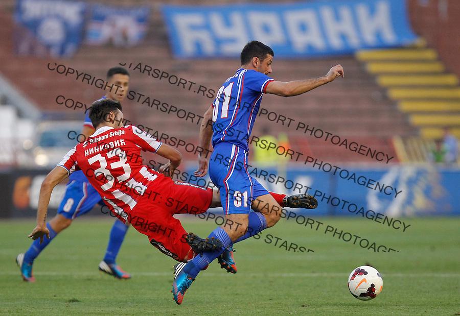 Fudbal Super liga season 2013-2014<br /> Crvena Zvezda v Jagodina<br /> Ivan Cvetkovic right and Milos Ninkovic<br /> Beograd, 17.08.2013.<br /> foto: Srdjan Stevanovic/Starsportphoto &copy;