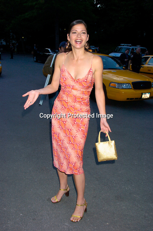 Jill Hennessey in Diane Von Furstenberg dress ..at the Fresh Air Fund Salute to American Heroes on June 3, 2004 at The Tavern on the Green. Photo by Robin Platzer, ..Twin Images