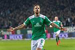 08.03.2019, Weser Stadion, Bremen, GER, 1.FBL, Werder Bremen vs FC Schalke 04, <br /> <br /> DFL REGULATIONS PROHIBIT ANY USE OF PHOTOGRAPHS AS IMAGE SEQUENCES AND/OR QUASI-VIDEO.<br /> <br />  im Bild<br /> <br /> Jubel Martin Harnik (Werder Bremen #09) Tor 4:2<br /> <br /> Foto &copy; nordphoto / Kokenge