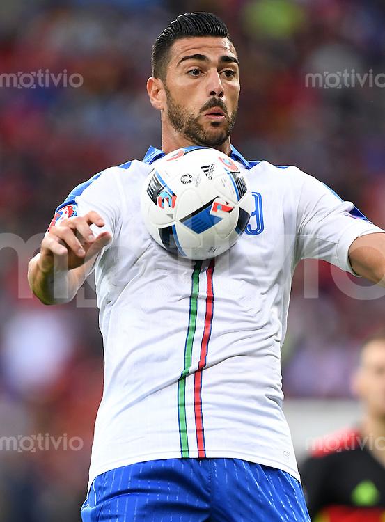 FUSSBALL EURO 2016 GRUPPE E IN LYON Belgien - Italien        13.06.2016 Graziano Pelle (Italien)