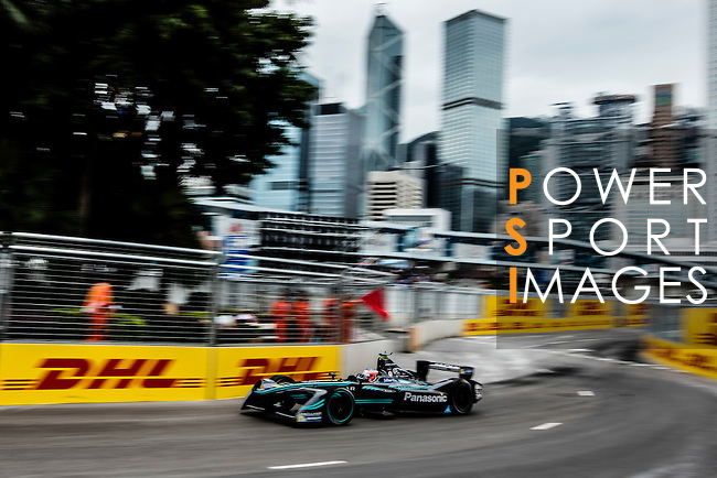 Mitch Evans of Panasonic Jaguar Racing during the first race of the FIA Formula E Championship 2016-17 season HKT Hong Kong ePrix at the Central Harbourfront Circuit on 9 October 2016, in Hong Kong, China. Photo by Victor Fraile / Power Sport Images