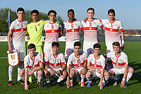 20180417 - TUBIZE , BELGIUM : Team of Switzerland with Ysias Hummel (1)   Till Muhlethaler (2)   Luis Mestre (3)   Christian Fernandes (4)   Albian Hajdari (5)   Bryan Okoh (6)   Luca Spina (7)   Mauricio Willimann (8)   Bradley Fink (9)   Joel Ribeiro (10)   Dominic Maurer (11) pictured during the friendly  soccer match between  under 15 teams of  Belgium and Switzerland , in Tubize , Belgium . Tuesday 17 th April 2018 . PHOTO SPORTPIX.BE / DIRK VUYLSTEKE