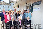 Monica Prenderville unvails a plaque in honour of the Castleisland Presentation sisters at the Castleisland Daycare centre on Tuesday front row l-r: Sr Margaret, Sr Mary and Sr Pauline Casey. Middle row: Eileen Lane, Helen O'Connor, Kathleen Griffin, maxi Fleming, Back row: Cllr Bobby O'Connell, Joan Walsh, Brendan, McCarthy, John Pender, Marie McCarthy, Sr Pauline Casey and Eilish Moynihan