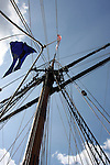 The mast of the Schooner Friendship Ship