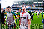 Mikey Geaney and Jonathan Lyne, Kerry players after defeating Tyrone in the All Ireland Semi Final at Croke Park on Sunday.
