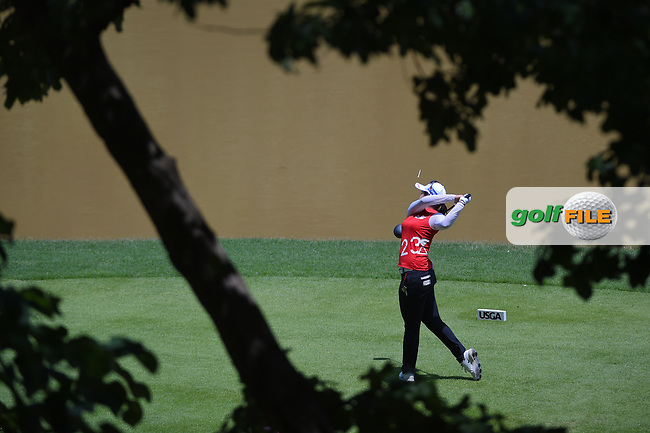 Hye-Jin Choi (KOR) watches her tee shot on 10 during round 3 of the U.S. Women's Open Championship, Shoal Creek Country Club, at Birmingham, Alabama, USA. 6/2/2018.<br /> Picture: Golffile | Ken Murray<br /> <br /> All photo usage must carry mandatory copyright credit (© Golffile | Ken Murray)