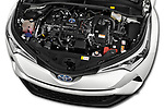 Car stock 2018 Toyota C-HR C-LUB 5 Door SUV engine high angle detail view