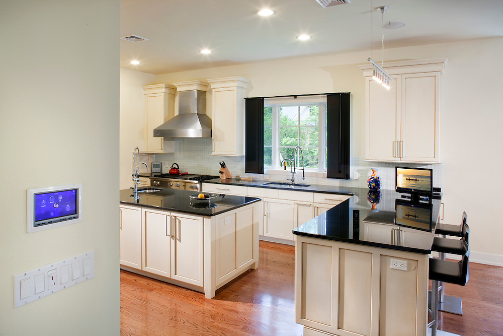 Kitchen with Control4 Touch Panel